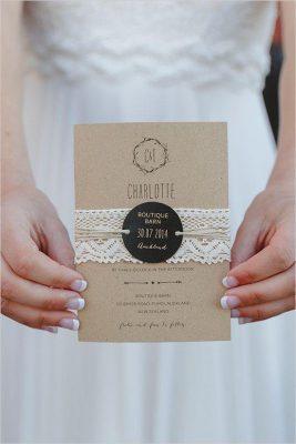 Thiệp đám cưới phong cách rustic TGTD059