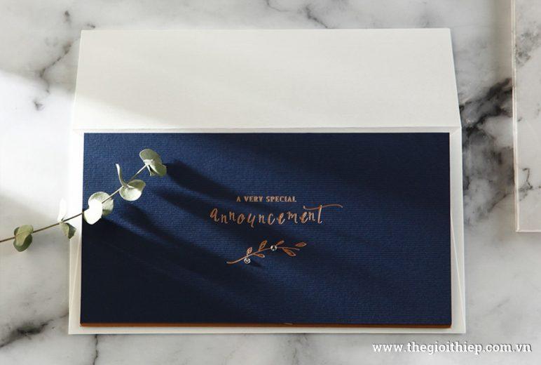 Thiệp cưới BH6102 đẳng cấp sang trọng