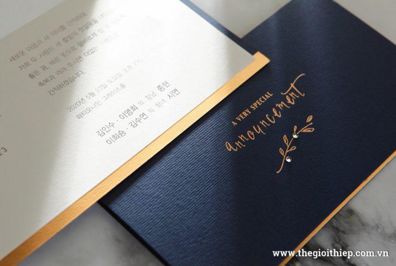 Thiệp cưới BH6102 phong cách hiện đại