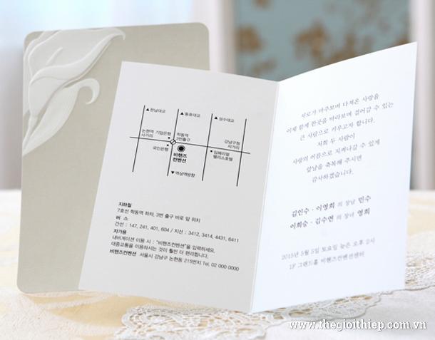 bên trong Thiệp cưới BH3264 vô cùng đẹp