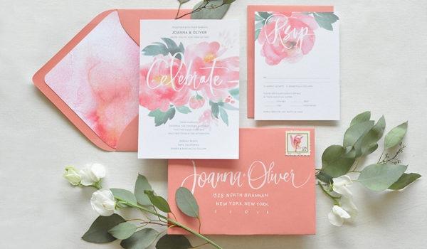 màu sắc thiệp cưới peach