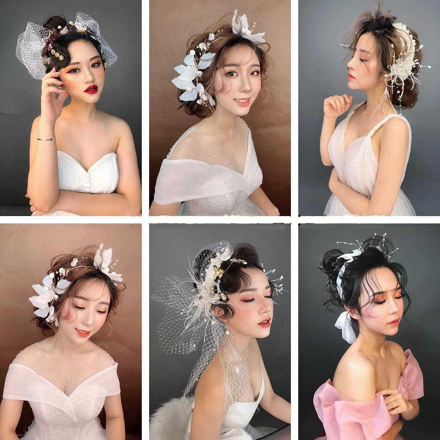 Các kiểu tóc cô dâu đẹp mới nhất 2020 - Mẫu tóc cô dâu ngày ăn hỏi