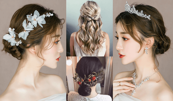 Những kiểu tóc đẹp cho cô dâu gầy mang lại vẻ tươi trẻ cuốn hút nhất!