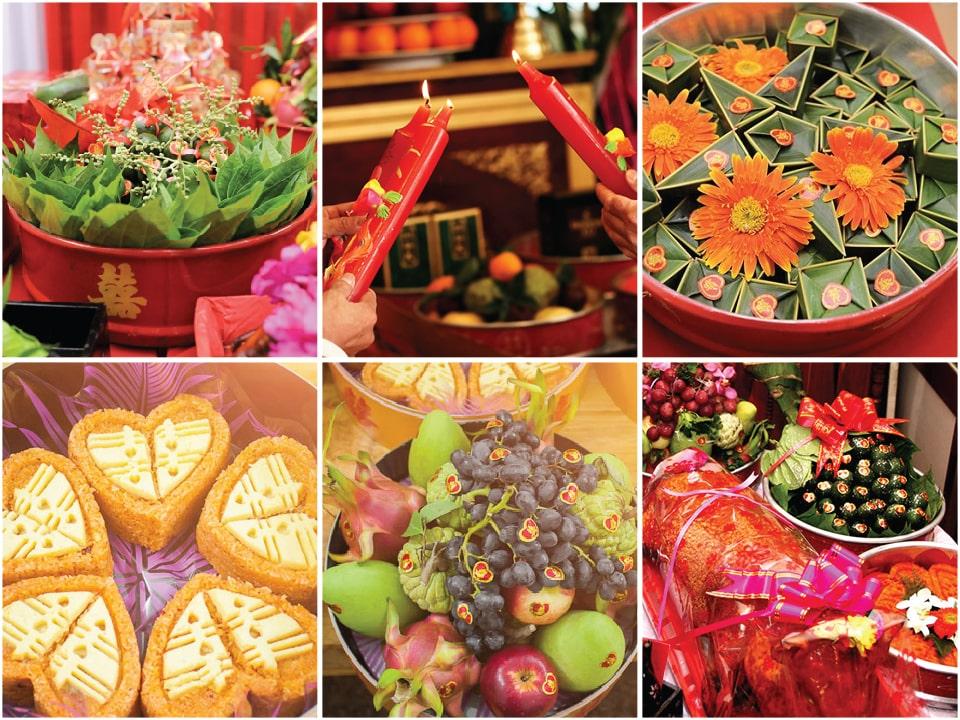 6 Mâm quả đám hỏi gồm những gì ? Mâm quả miền Bắc - Trung - Nam