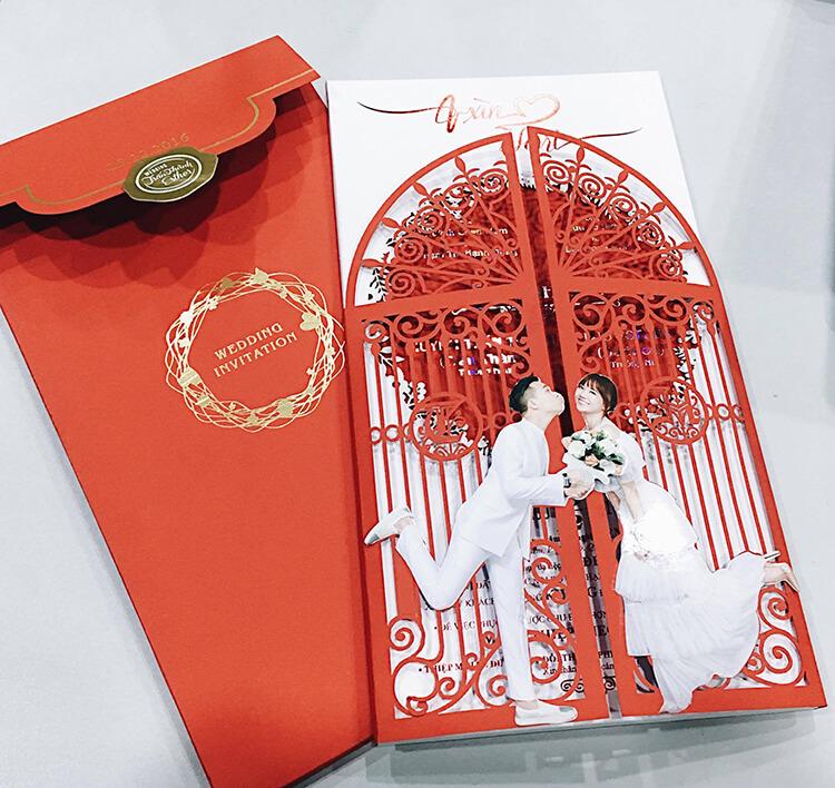 Mẫu thiệp cưới của Sao Việt - Trấn Thành đẹp thế nào?