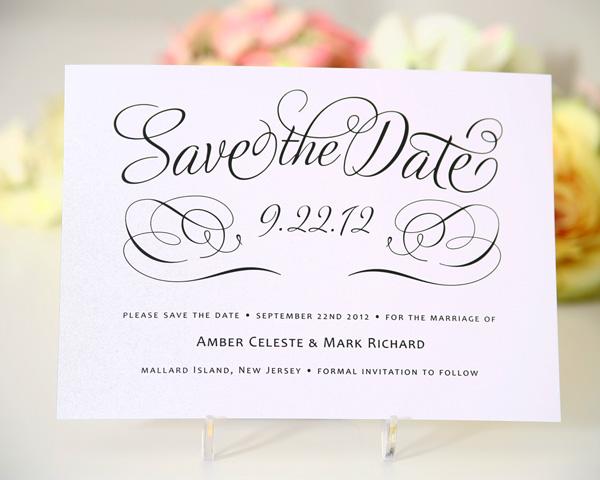 thiệp cưới Save the date