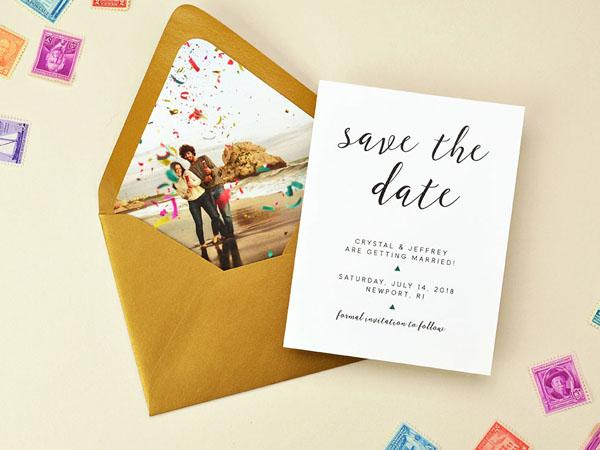 thiệp cưới Save the date 1